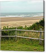 Over The Fence Ocean View Canvas Print