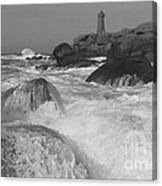 Overflooding Black And White Canvas Print