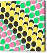 Overlayed Dots Canvas Print