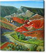 Overlook Near Ghost Ranch Canvas Print