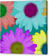 Oversize Daisies Two Canvas Print