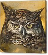 Owl Watercolor Canvas Print