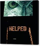 Owl Eye Zipper Sign Times Square Canvas Print