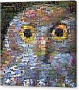 Owl Mosaic Canvas Print