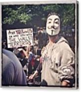 Ows Occupy Wall Street Canvas Print