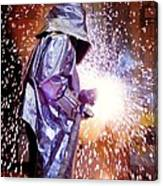 Oxy-acetylene Cutting Canvas Print