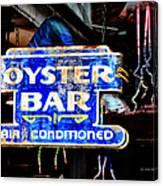 Oyster Bar Sign Canvas Print