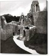 Oystermouth Castle Canvas Print