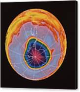 Ozone Hole Over Antarctica Canvas Print