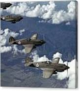 P-40 Pursuits Of The U.s. Army Air Canvas Print