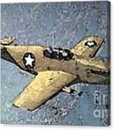 P51 Mustang In Flight Canvas Print