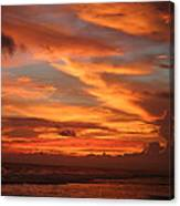 Pacific Sunset Costa Rica Canvas Print