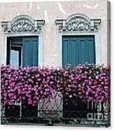 Padua Balcony And Window Boxes Canvas Print