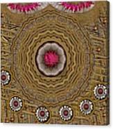 Pagoda Of Lotus Pop Art Canvas Print