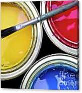 Paint Cans Canvas Print