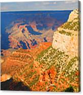 Painted Grand Canyon Before Sunset Canvas Print