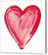 Painted Heart - Symbol Of Love Canvas Print