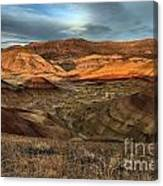 Painted Hills In The Fossil Beds Canvas Print