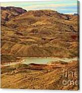 Painted Hills Lake Canvas Print