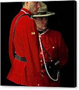 Painted Mounties Canvas Print