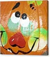 Painted Pumpkin 3 Canvas Print