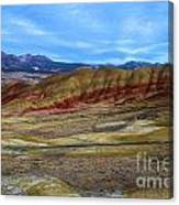 Painted Sky Over Painted Hills Canvas Print