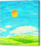 Painting Of Nature In Spring And Summer Canvas Print