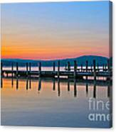 Painting On The Lake Canvas Print