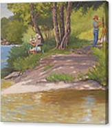 Painting The River Canvas Print
