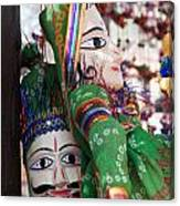 Pair Of Large Puppets At The Surajkund Mela Canvas Print