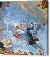 Palace Of Versailles Ceiling Art Canvas Print