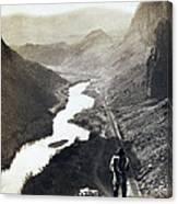 Palisades Railroad View - California - C 1865 Canvas Print