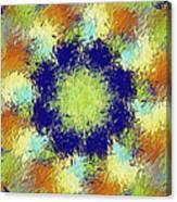 Pallet Of Colors Canvas Print