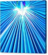 Palm Frond In Blue Canvas Print