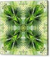 Palm Kaleidoscope 6 Canvas Print