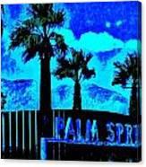 Palm Springs Gateway Two Canvas Print