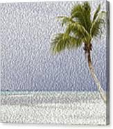Palm Tree On The Tropical Beach Canvas Print