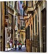 Palma Mallorca Street Scene Canvas Print