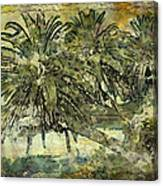 Palms Haiku Canvas Print