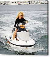 Pamela Anderson Is A Jet Ski Vixen Canvas Print