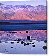 Panamint Range Reflected In Standing Canvas Print