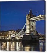 Panorama Of Tower Bridge And Tower Of London Canvas Print