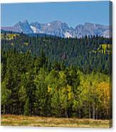 Panorama Scenic Autumn View Of The Colorado Indian Peaks Canvas Print