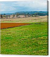 Panorama Valley Farm Canvas Print