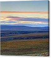 Panoramic At Sunset Along The Dempster Canvas Print