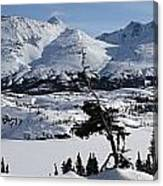 Panoramic Of An Unnamed Mountain Taken Canvas Print