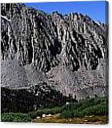 Panoramic Of Hikers On Kersarge Lake Canvas Print