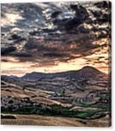 Panoramic Sunset Canvas Print