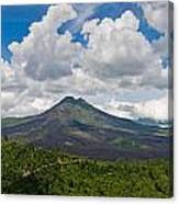 Panoramic View Of A Volcano Mountain  Canvas Print