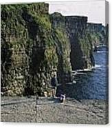 Panoramic View Of Cliffs, Cliffs Of Canvas Print